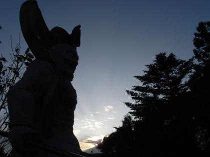 鎮国寺の仁王像